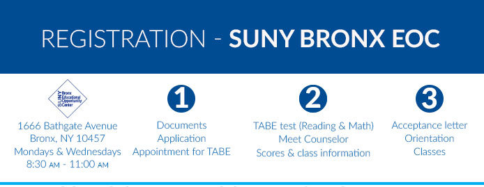 SUNY Bronx EOC Registration Process